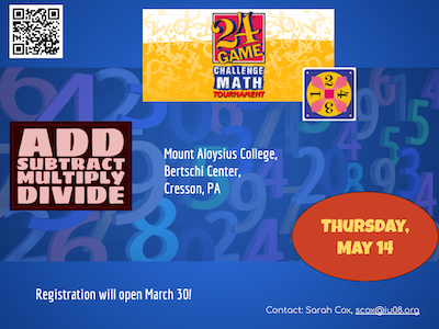 Math 24 Save the Date May 14
